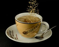 Coffee with Sugar.     Got Heartburn? http://beckysblog.net/is-this-you/