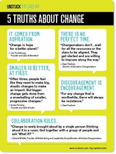 5 truths about change - Unstuck's Best Advice of 2013