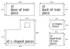 gingerbread train template printable - Google Search