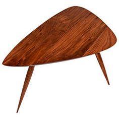 Walnut Side Table by Phillip Lloyd Powell