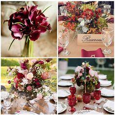 casamento decoração branco marsala - Pesquisa Google
