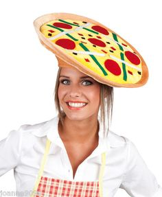 NEW PIZZA ITALIAN CHEF ITALY FANCY DRESS COSTUME FUNNY PARTY PLUSH HAT FAST FOOD