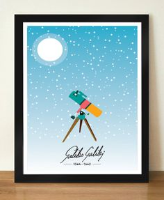 Galileo Galilei Inspirational and Motivational by DesignSailors, $8.00
