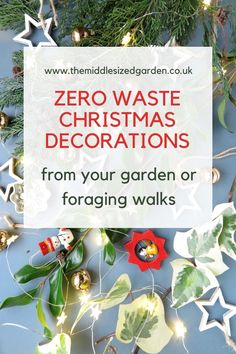 Christmas decor ideas, tree decorations and wreaths mainly using materials from your garden or foraging walks. Eco-friendly, sustainable and beautifully festive! #christmas #middlesizedgarden #garden #backyard Christmas Garden, Family Christmas, Christmas Time, Vintage Christmas, Garden Party Decorations, Xmas Decorations, Easy Garden, Garden Ideas, Vintage Garden Parties