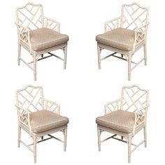 1stdibs.com | Set off four Chinese Chippendale style armchairs