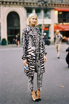 fashion-streetstyle:  (via Vanessa Jackman: Paris Fashion Week SS 2014….Elena)