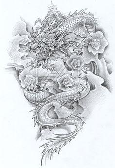 dragon tattoos black ink for women on arm | Dragon Tattoos Part 06