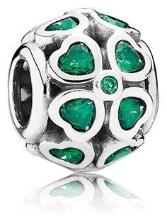 Pandora Women 925 silver Green Zirconium oxide FASHIONOTHER
