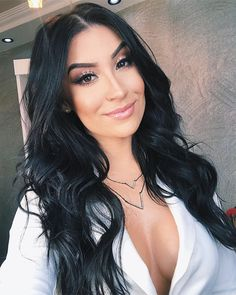 Funky Hairstyles, Formal Hairstyles, Girl Hairstyles, Hairstyle Men, Long Brown Hair, Black Hair, Hair Inspo, Hair Inspiration, Chelsea Houska Hair