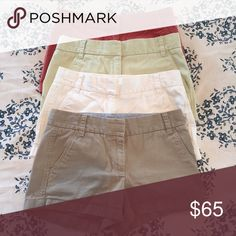 J. Crew Chino Shorts $20 each, $35 for two, $50 for 3, $65 for 4 J. Crew Shorts