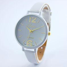 Fashion Brand watches women luxury watch Geneva Women Faux Leather Analog Quartz Wrist Watch
