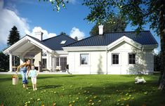 Projekat luksuzne prizemne kuće s garažom Texas, Home Fashion, Exterior Design, House Plans, Mansions, House Styles, Outdoor Decor, Modern, Bungalows