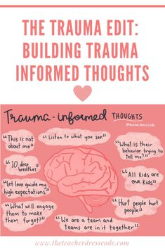 trauma edit: building a trauma informed mindset - The Teacher Dress Code Trauma Therapy, Therapy Tools, Counseling Activities, Therapy Activities, Social Work Activities, Career Counseling, Psychology Quotes, School Psychology, School Social Work