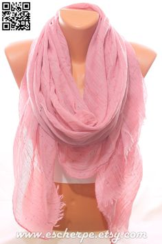 Rose Pink So Soft Lightweight Spring Summer Crinkle Scarf Women's Fashion Accessories Scarves Mother's Day Easter Gift Ideas For Her