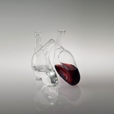 "Italian artist Liviana Osti's ""Coure"" is two separate carafes that when put together make a human heart."