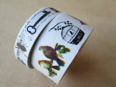 Washi Tape  Double Roll  Vintage Inspired Birdcage by HazalsBazaar, $5.00