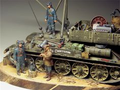 Recovery tractor based on T-34 tank - finished model / modelo terminado.