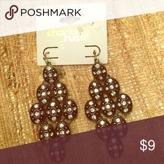 NWT Charlotte Russe earrings Received as a gift but they are a little too big for me. Never worn Charlotte Russe Jewelry Earrings