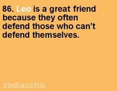 Leo fact from ZodiacChic.