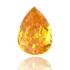 Beautiful pear shaped orange diamond (Fancy Deep Orange)