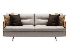 2 seater leather sofa GRANTORINO by Poltrona Frau | design Jean-Marie Massaud