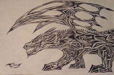 Tribal Hellhound by on deviantART Hellhound Tattoo, Deviantart Tattoo, Tattoo Drawings, Tattoos, Joker, Artist, Tatuajes, Tattoo, Jokers
