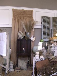 smocked burlap curtains#burlap#curtains