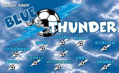 Thunder-Blue-46599  digitally printed vinyl soccer sports team banner. Made in the USA and shipped fast by BannersUSA. www.bannersusa.com