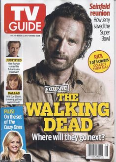 TV Guide magazine with Andrew Lincoln
