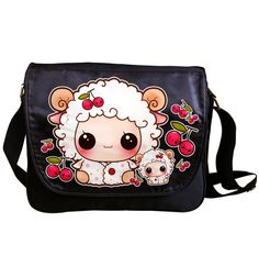 Kawaii sheep - Messenger bag - MB13 | ChibiBunny - Bags & Purses on ArtFire