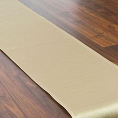 Shimmer Gold Topstitched Table Runner