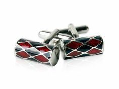 Unique Red & Black Barrel Silver Cufflinks by Cuff-Daddy Cuff-Daddy. $24.99. Made by Cuff-Daddy. Arrives in hard-sided, presentation box suitable for gifting.