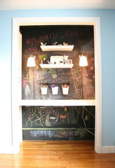 """How to make a """"cloffice"""" i.e. turn a closet into an office space. Cool idea with great, step-by-step instructions!"""