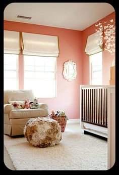 I love the bohemian look of this nursery!!! So peaceful and chic!