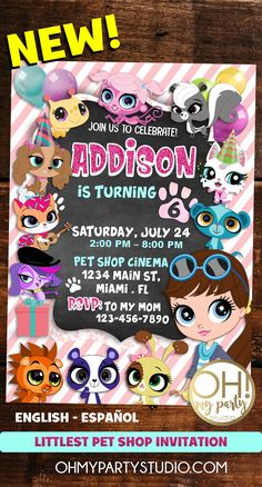 LITTLEST PET SHOP PARTY IDEAS, LITTLEST PET SHOP INVITATIONS, LITTLEST PET SHOP DECORATIONS, LITTLEST PET SHOP PARTY PRINTABLES Birthday Party Invitations, Birthday Parties, Baby Birthday, Birthday Ideas, Lps Cakes, Little Pet Shop Toys, Disney Colors, Disney Coloring Pages, Waldorf Dolls