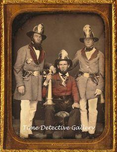Daguerreotype Image, Firemen, Charleston, S.C. - c1855 -THIS IS A PHOTO REPRINT