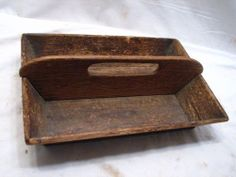 Antique Wooden Primitive Tray
