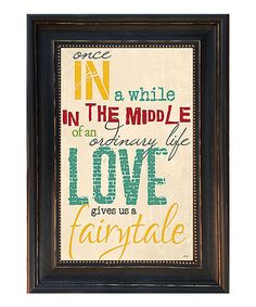 Loving this 'Once in a While' Framed Wall Art on #zulily! #zulilyfinds