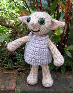 Dobby Amigurumi, yes please!: PDF of Little Folk Amigurumi Pattern - Elf, Fairy, Sprite Crochet Pattern Dobby Harry Potter, Harry Potter Crochet, Crochet Animals, Crochet Toys, Crochet Crafts, Deathly Hallows Part 1, Mohair Yarn, Yarn Crafts, Crochet Projects