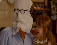 daddy, do mr. napkin head!  My kids love this now! One of the best movies of all time!!!
