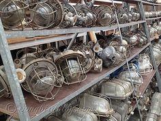 vintage industrial lamps