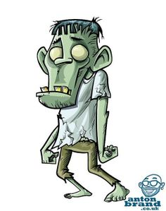 Zombie Drawings, Halloween Drawings, Cartoon Drawings, Cartoon Art, Art Drawings, Zombie Cartoon, Zombie Art, Anime Zombie, Character Concept