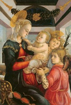 ❤ - SANDRO BOTTICELLI ( 1445 - 1510) -  Madonna and Child with two Angels.