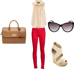 deep red., created by arickel on Polyvore