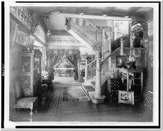 Reception hall, residence of Paul De Longpre Print