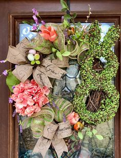 Easer wreath with moss covered bunny www.facebook.com/southernsass