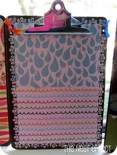 DIY Decorated Clipboard