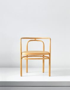 Poul Kjærholm; PK15 Beech and Cane Armchair for E. Kold Christensen, 1979.