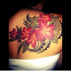 My Plumeria Tribal tattoo that I got done in Seattle by Alfredo Matta