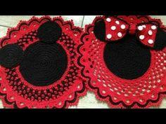 Tapetes de crochê Mickey e Minnie (crédito nas imagens) - YouTube